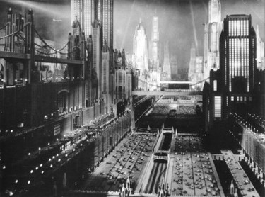 the vertical topography of the science fiction film