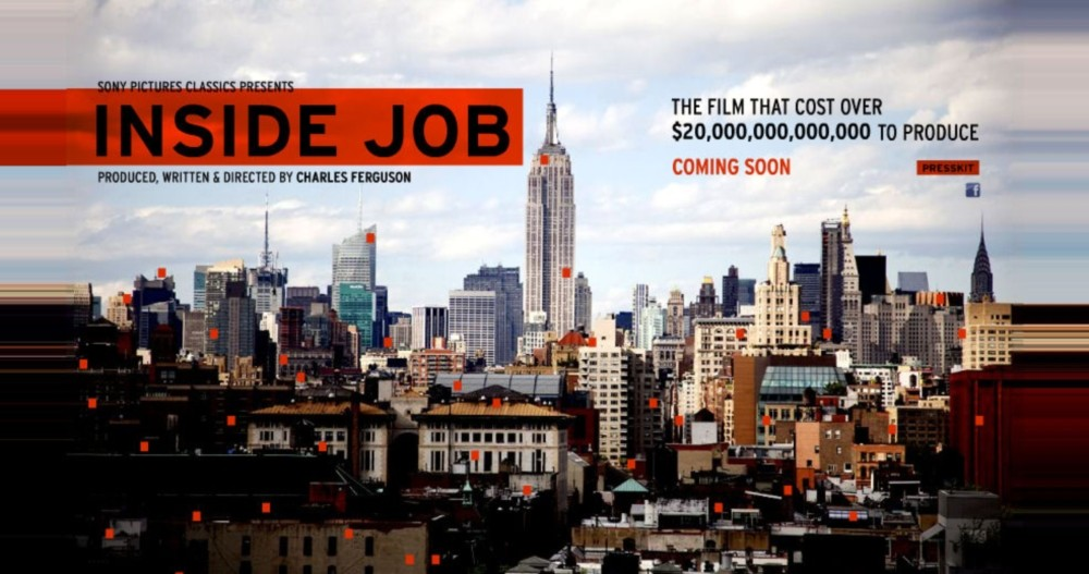 movie inside job Inside job provides a comprehensive analysis of the global financial crisis of 2008 which at a cost over 20 trillion caused millions of people to lose their jobs and homes in the worst recession since the great depression and nearly resulted in a global financial collapse through exhaustive research and extensive interviews with key financial.