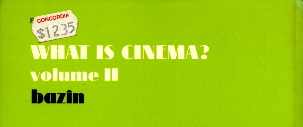 andre bazin what is cinema