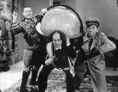 Three Stooges Map Of Europe.Shtick Em Up Remembering The Three Stooges Offscreen